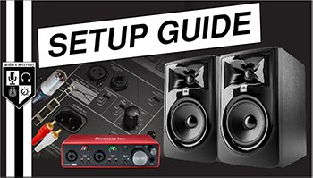 Studio Monitor Setup Guide [Placement, Cables, & Settings]