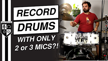 How To Record Drums At Home [With Only 1, 2, or 3 Microphones]